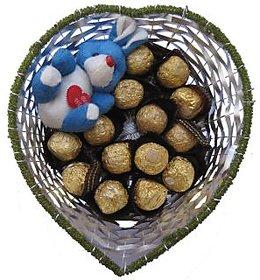 Ferrero Rocher & Teddy Basket