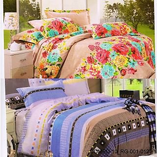 Valtellina set of 2 double bedsheet with 4 pillow cover(COMBO-10_RG-001_012)