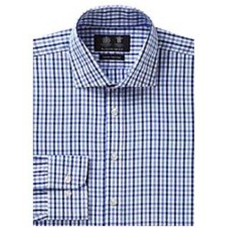 Nuevo Ajuste Casual Shirt In Blue Check