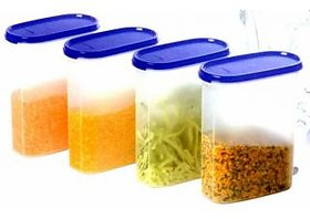 Tupperware Modular Mate Oval Canister - 1.7 Ltr. (set of 4 containers) - Dry Storage