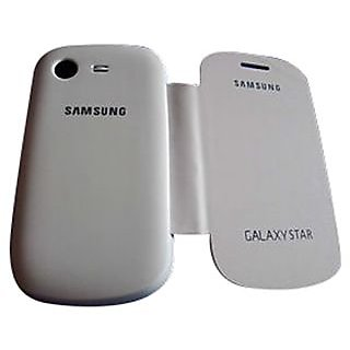 new style ad390 cd97d Samsung Galaxy STAR S5282 Flip cover case (White)