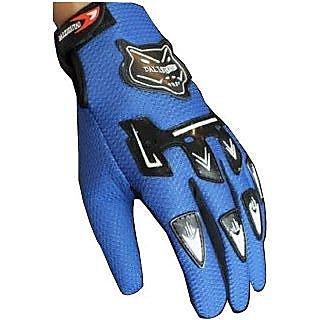 Knighthood Full Finger Riding Gloves - Blue