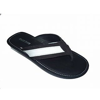 ee083a52b085f JACK DON BLACK WHITE SLIPPERS at Best Prices - Shopclues Online ...