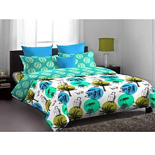 Home Expressions Usa Nice Callidora Double Bed Sheet Green