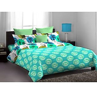 Home Expressions Usa Callidora Double Bed Sheet Green