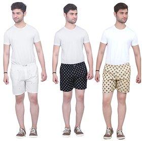 White  Black Checks Boxers For Men (Pack Of 3)