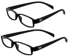 MagJons Black Full Rim Rectangular Unisex Spectacle Frame Pack of 2