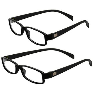 MagJons Black Full Rim Rectangular Unisex Spectacle Frame Pack of 2