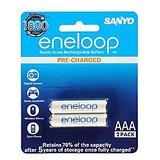 Sanyo Eneloop 2AAAx800mAh HR-4UTG-B2BTM Rechargeable Batteries