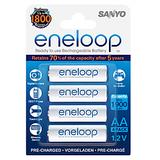 Sanyo Eneloop 4AAx2000mAh HR-3UTG-B4BTM Rechargeable Batteries (White)