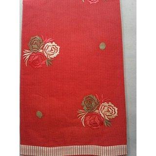 Kota Doria Embroidery Saree