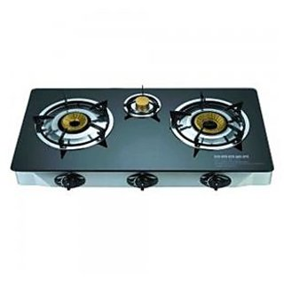3 Burner Gas Stove with Glass cooktop