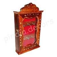 Wooden Key Holder Box Almira Antique Wall Hanging Home Decor Handicraft