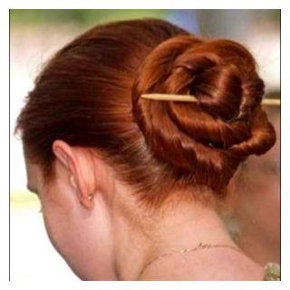 Hair Stick bun Women Hair Accessories clip pin 2 Pieces