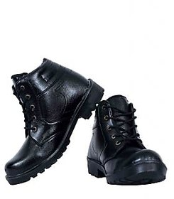Elvace Mens Black Lace-up Boots