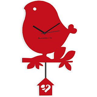 Blacksmith Lovable Birdie Wall Clock Red