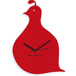 Blacksmith Cute Animal Wall Clock Red
