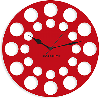 Blacksmith Honey Bee Comb Wall Clock Red