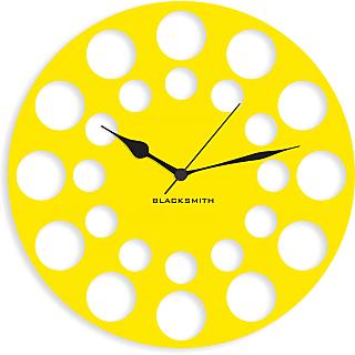 Blacksmith Honey Bee Comb Wall Clock Yellow