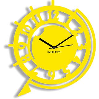Blacksmith Funky Wall Clock Yellow