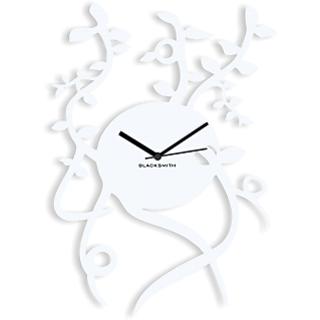 Blacksmith Plant Wall Clock White