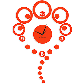 Blacksmith Multi Rounds Wall Clock Orange