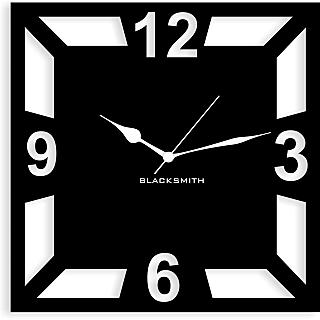 Blacksmith Square Geometric Wall Clock Black