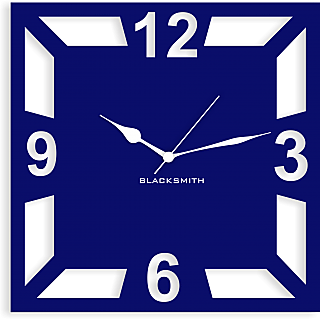 Blacksmith Square Geometric Wall Clock Dark Blue