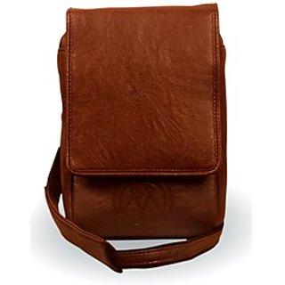 Sleek Tan Brown  Sling Bag