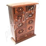 Cabinet Mini Wooden Chest Coin Jew Collection Door Home Decor Jwellery Furniture