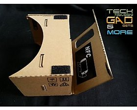 UNOFFICIAL GOOGLE CARDBOARD 3D VR HEADSET WITH NFC