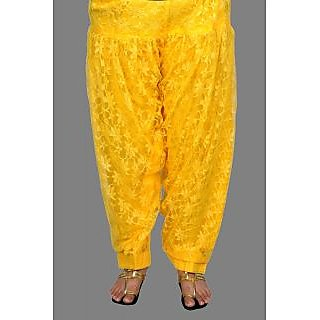Lace Patiala Yellow Salwar (SKU017-YL)