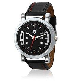 Rico Sordi Round Dial Multicolor Leather Strap Quartz Watch For Men