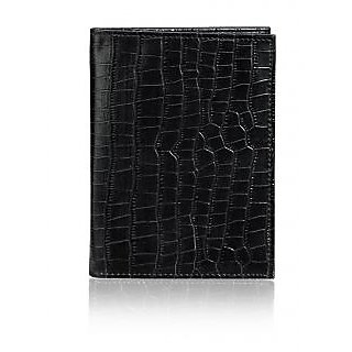 Rico Sordi Men Black Leather Passport Holder(Rsm44PassportHolder01)