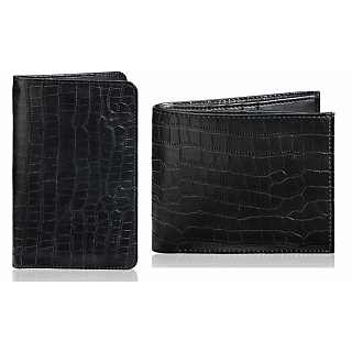 Rico Sordi Leather Wallet & Leather Pasport Holder(Design 3)(Rsmw_14_W_49_Wph_46)