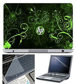 FineArts Laptop Skin 15.6 Inch With Key Guard Screen Protector   HP Green Wallpaper