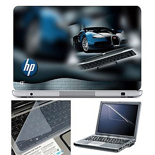 FineArts Laptop Skin 15.6 Inch With Key Guard & Screen Protector - HP Car