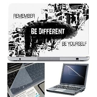 FineArts Laptop Skin 15.6 Inch With Key Guard & Screen Protector - Be Different