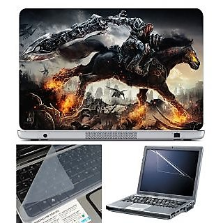FineArts Laptop Skin 15.6 Inch With Key Guard & Screen Protector - Darksiders