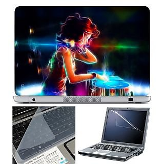 FineArts Laptop Skin 15.6 Inch With Key Guard & Screen Protector - DJ Girl