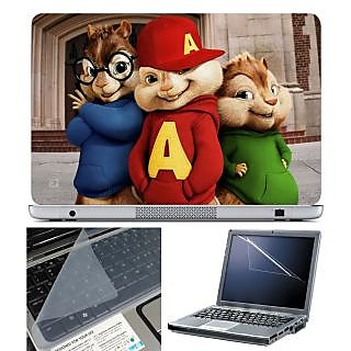 FineArts Laptop Skin 15.6 Inch With Key Guard & Screen Protector - Chipmunks