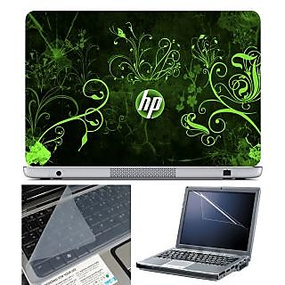 FineArts Laptop Skin 15.6 Inch With Key Guard  Screen Protector - HP Green Wallpaper