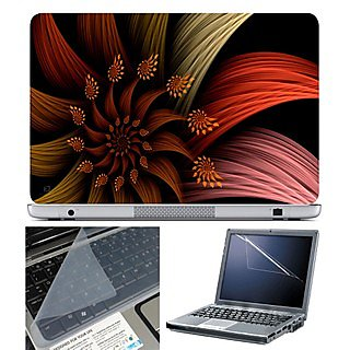 FineArts Laptop Skin 15.6 Inch With Key Guard & Screen Protector - Abstract Flower