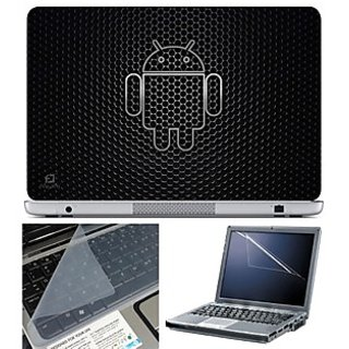 FineArts Laptop Skin 15.6 Inch With Key Guard & Screen Protector - Android Black Circle