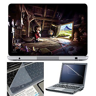 FineArts Laptop Skin 15.6 Inch With Key Guard & Screen Protector - Kid in House