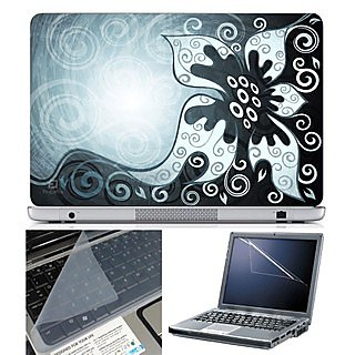 FineArts Laptop Skin 15.6 Inch With Key Guard & Screen Protector - Abstract Series 1001