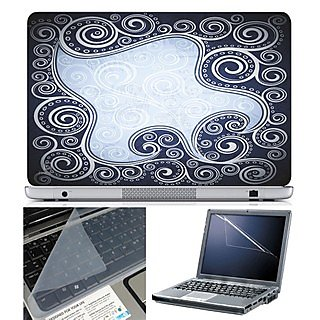 FineArts Laptop Skin 15.6 Inch With Key Guard & Screen Protector - Abstract Series 1010