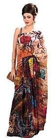 Indian Women's Eternal Printed Chiffon Saree SB 1025 By Shubham Fashions