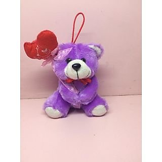 Cuddles Purple Heart-Hat Teddy