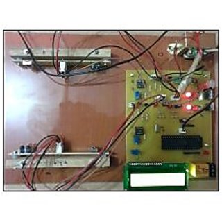 automatic light controller with visitor counter